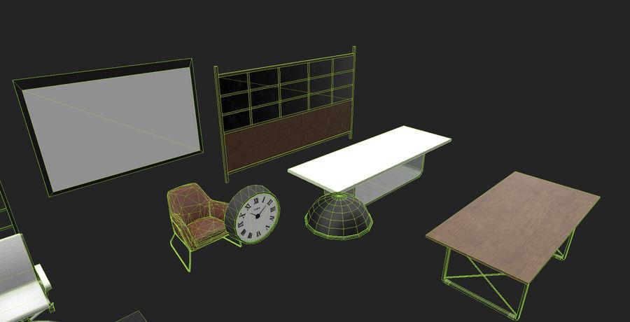 Интерьерная коллекция Pack Low-poly 3D модель royalty-free 3d model - Preview no. 8