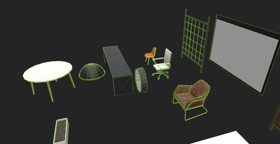 Интерьерная коллекция Pack Low-poly 3D модель royalty-free 3d model - Preview no. 6