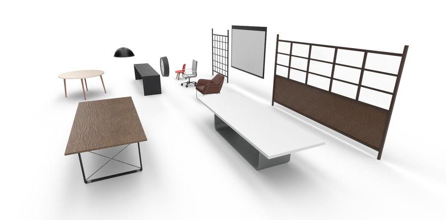 Интерьерная коллекция Pack Low-poly 3D модель royalty-free 3d model - Preview no. 1