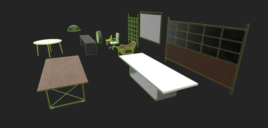 Интерьерная коллекция Pack Low-poly 3D модель royalty-free 3d model - Preview no. 2