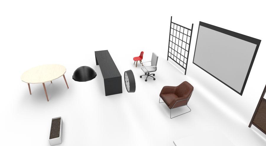 Интерьерная коллекция Pack Low-poly 3D модель royalty-free 3d model - Preview no. 5