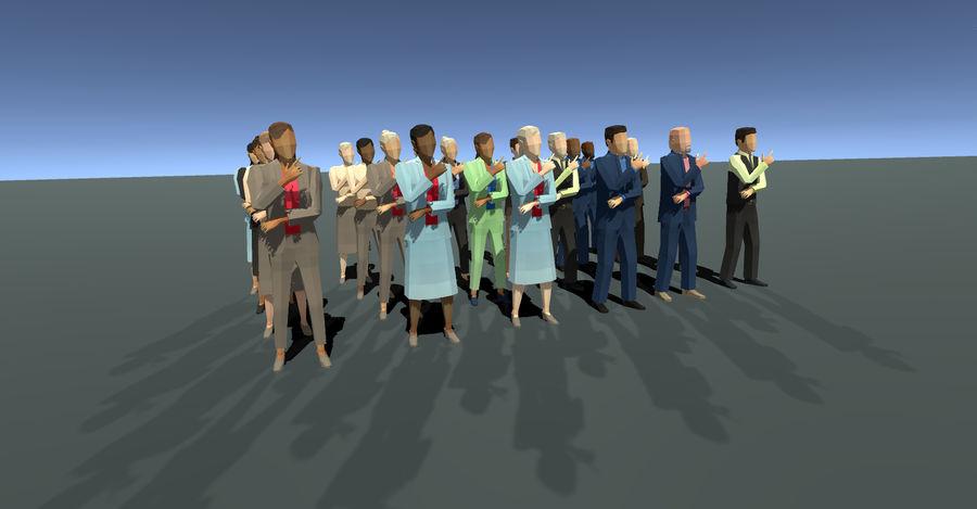 Düşük Poli İş Adamları royalty-free 3d model - Preview no. 1