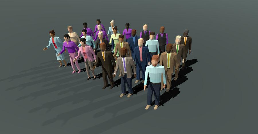 Düşük Poli İş Adamları royalty-free 3d model - Preview no. 2