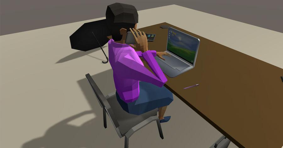 Düşük Poli İş Adamları royalty-free 3d model - Preview no. 5