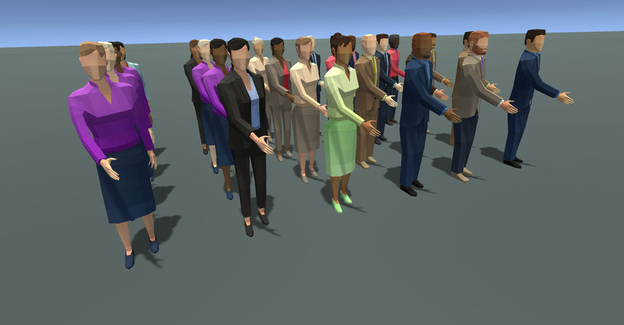 Düşük Poli İş Adamları royalty-free 3d model - Preview no. 6