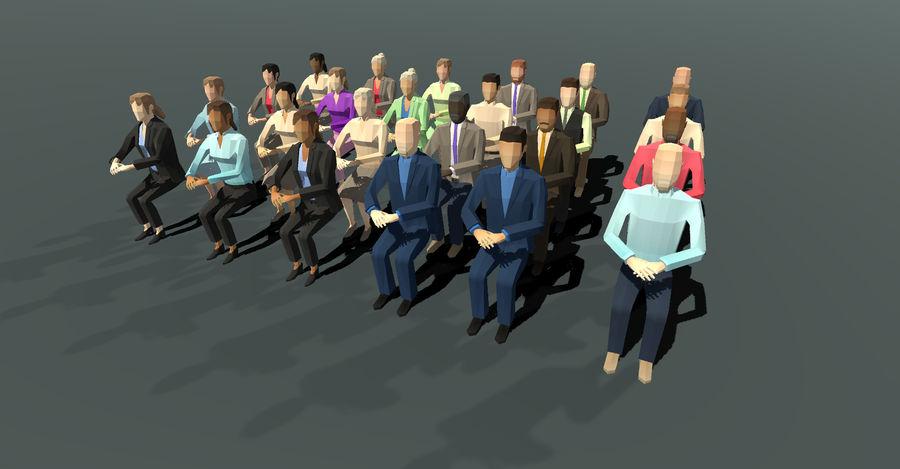 Düşük Poli İş Adamları royalty-free 3d model - Preview no. 3