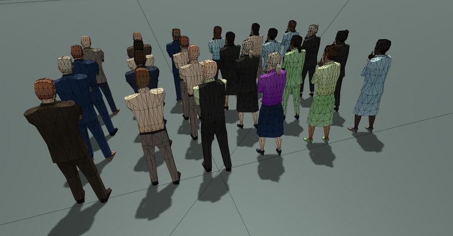 Düşük Poli İş Adamları royalty-free 3d model - Preview no. 8