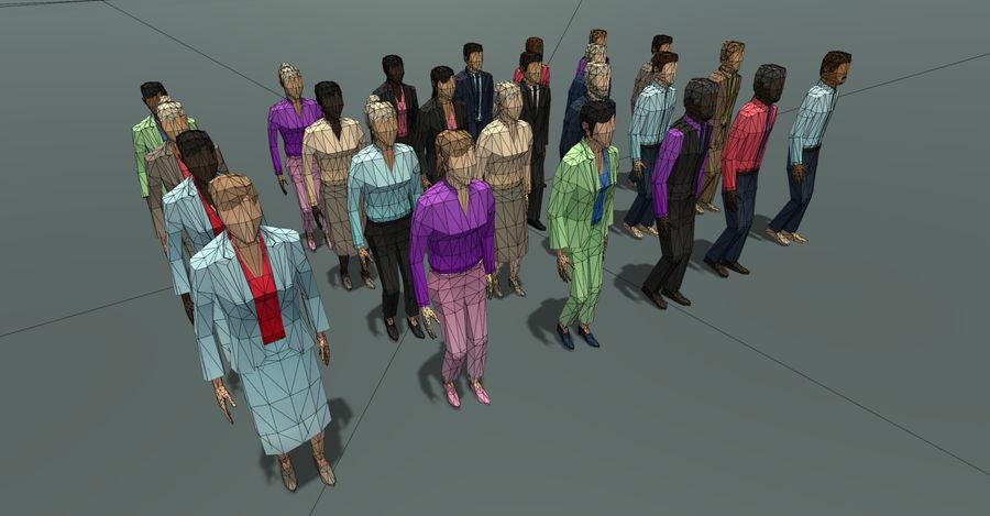 Düşük Poli İş Adamları royalty-free 3d model - Preview no. 7
