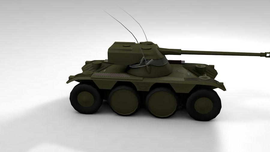 군용 차량 낮은 폴리 royalty-free 3d model - Preview no. 3