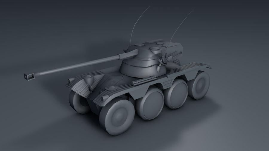 군용 차량 낮은 폴리 royalty-free 3d model - Preview no. 6