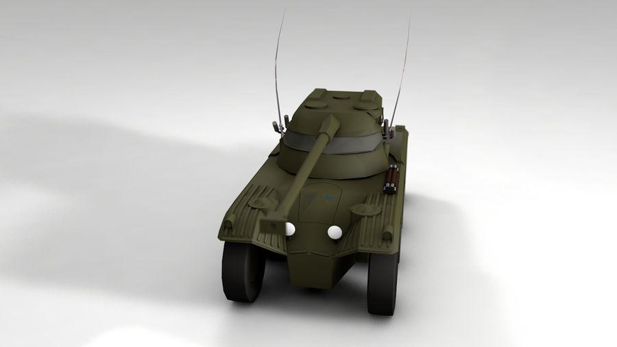 군용 차량 낮은 폴리 royalty-free 3d model - Preview no. 2