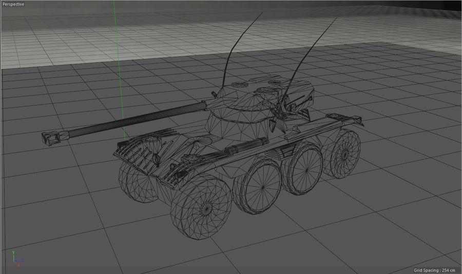 군용 차량 낮은 폴리 royalty-free 3d model - Preview no. 7
