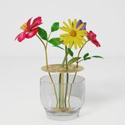 Vaso di fiori Ikebana 3d model