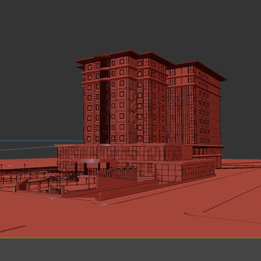 Hotel royalty-free 3d model - Preview no. 6