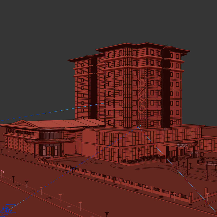 Hotel royalty-free 3d model - Preview no. 5