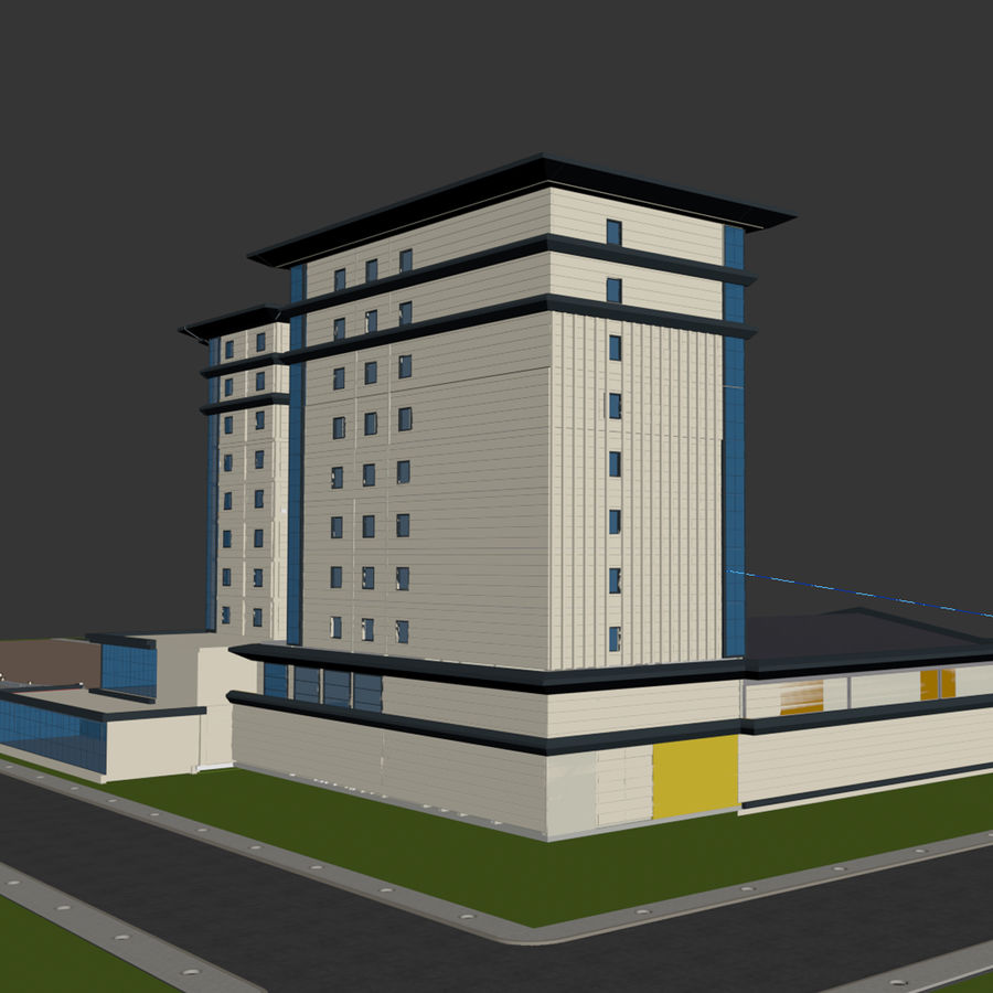 Hotel royalty-free 3d model - Preview no. 4
