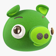 Angry Stuffed Pig 3d model
