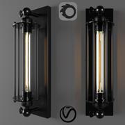 Industriële wandlamp Tesla kooi 3d model