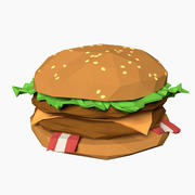 Cartoon Burger 3d model