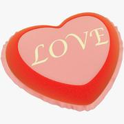 Amore di cuore ripieno 3d model