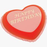 Nadziewane serce z okazji urodzin 3d model