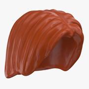 Lego Hair 01 Light Brown 3d model