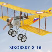 Sikorsky S-16 3d model