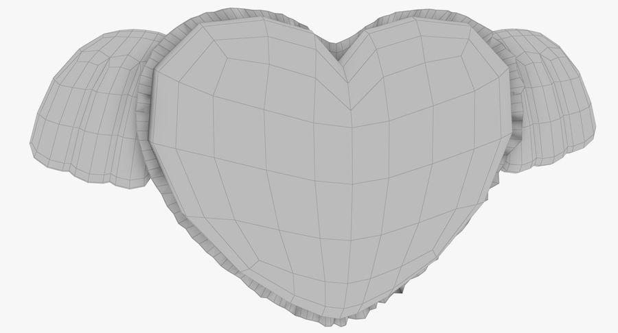 Fylld hjärta med vingar V1 royalty-free 3d model - Preview no. 14