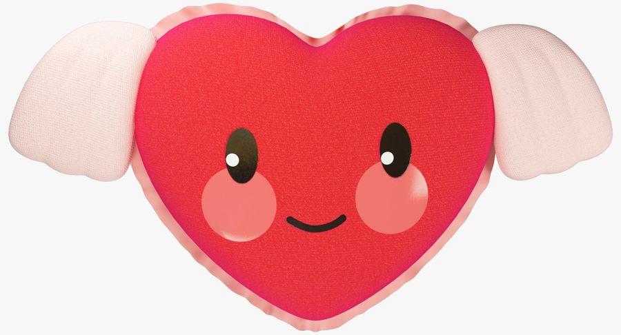 Fylld hjärta med vingar V1 royalty-free 3d model - Preview no. 4