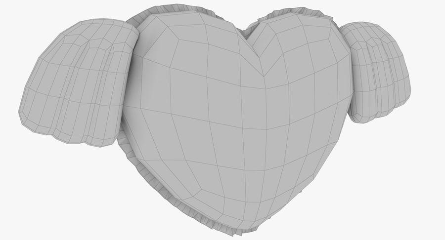 Fylld hjärta med vingar V1 royalty-free 3d model - Preview no. 13