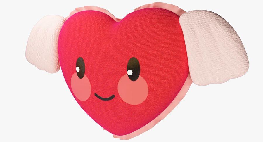 Fylld hjärta med vingar V1 royalty-free 3d model - Preview no. 5