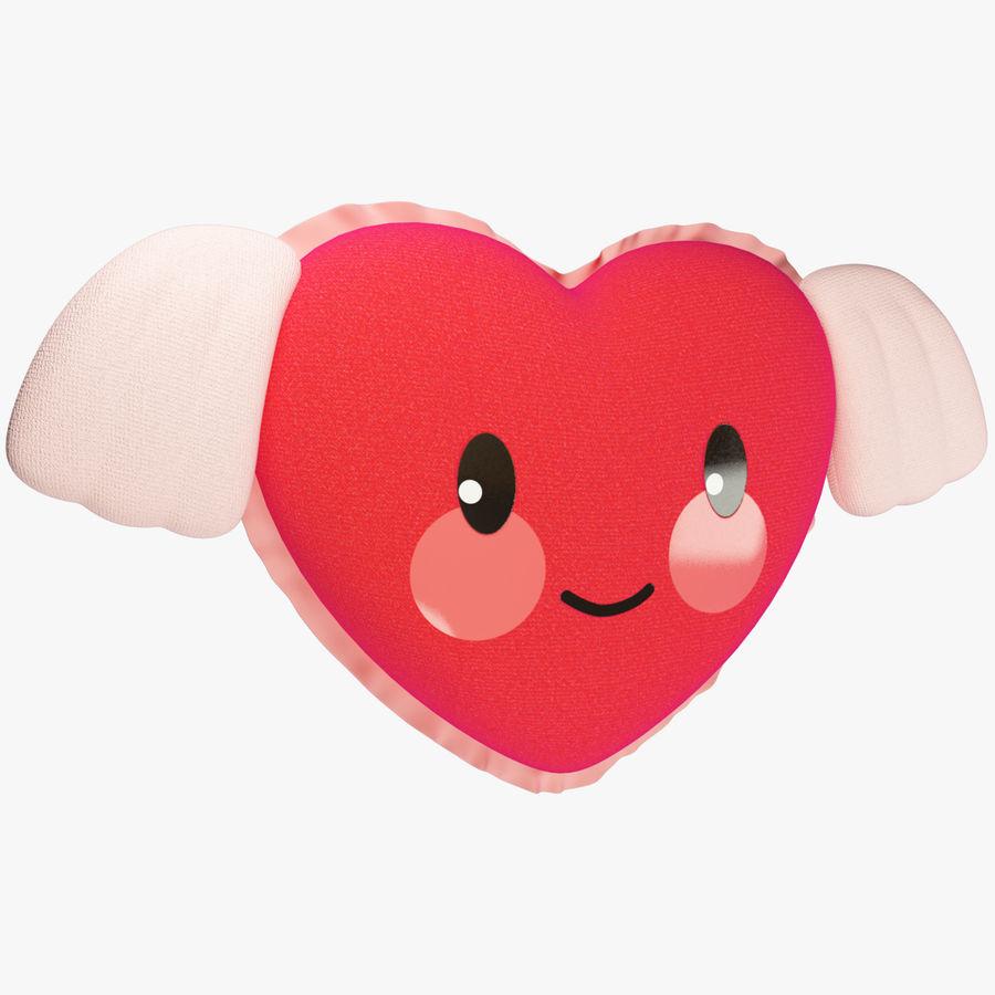 Fylld hjärta med vingar V1 royalty-free 3d model - Preview no. 1