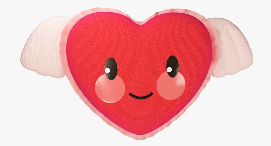 Fylld hjärta med vingar V1 royalty-free 3d model - Preview no. 8