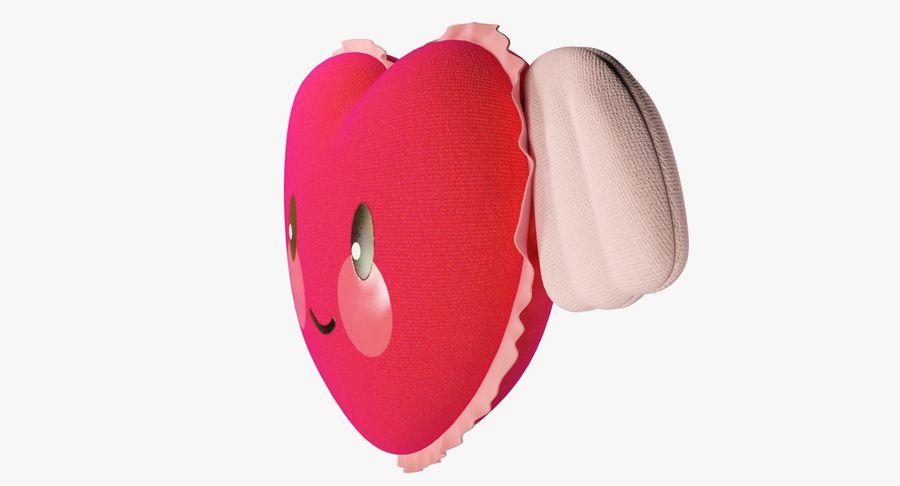 Fylld hjärta med vingar V1 royalty-free 3d model - Preview no. 10