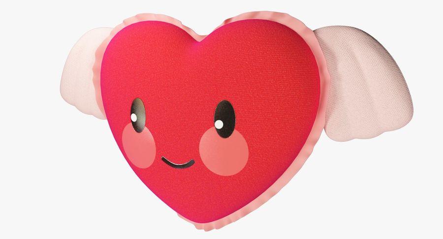 Fylld hjärta med vingar V1 royalty-free 3d model - Preview no. 9