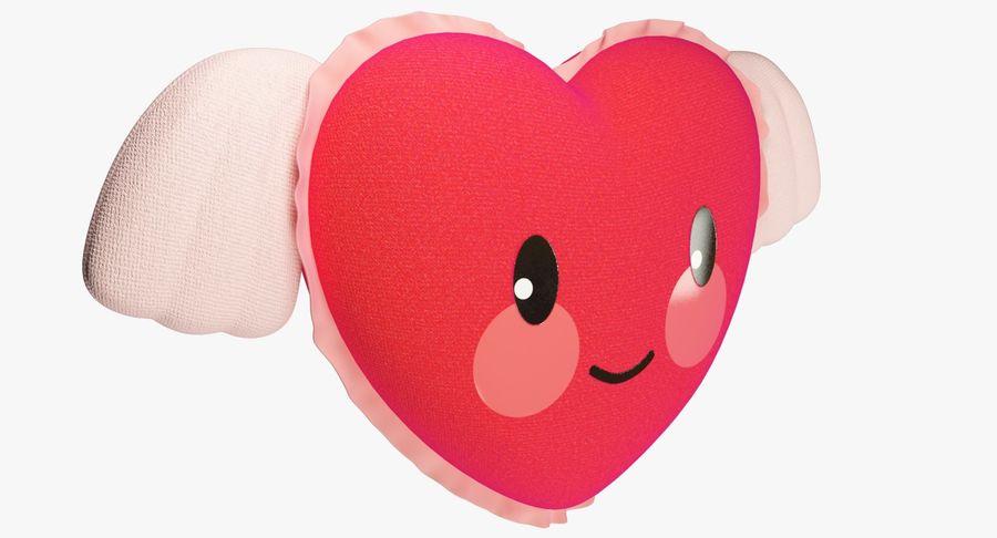 Fylld hjärta med vingar V1 royalty-free 3d model - Preview no. 7