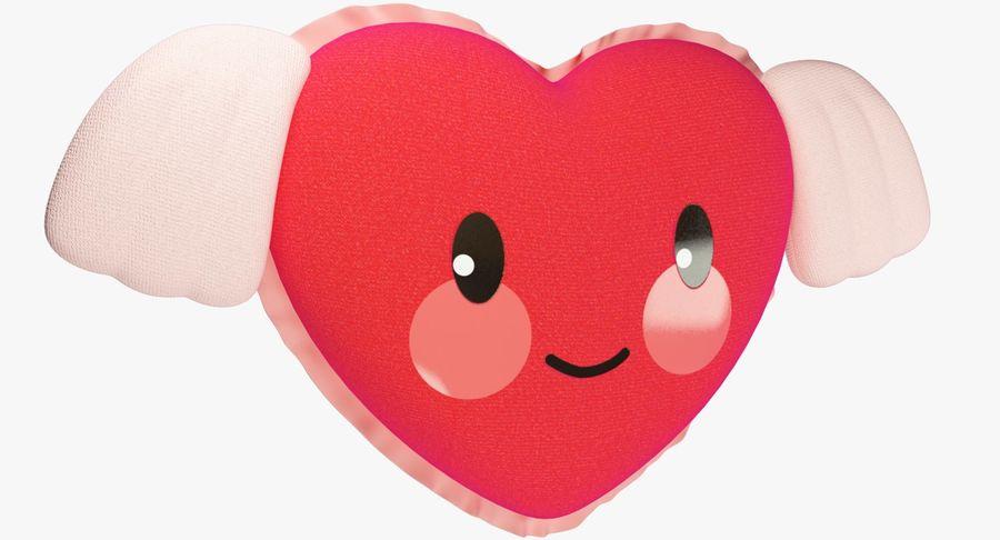 Fylld hjärta med vingar V1 royalty-free 3d model - Preview no. 2