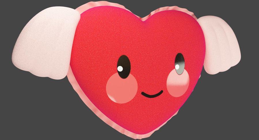 Fylld hjärta med vingar V1 royalty-free 3d model - Preview no. 3