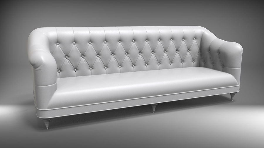 Couch Sofa royalty-free 3d model - Preview no. 4