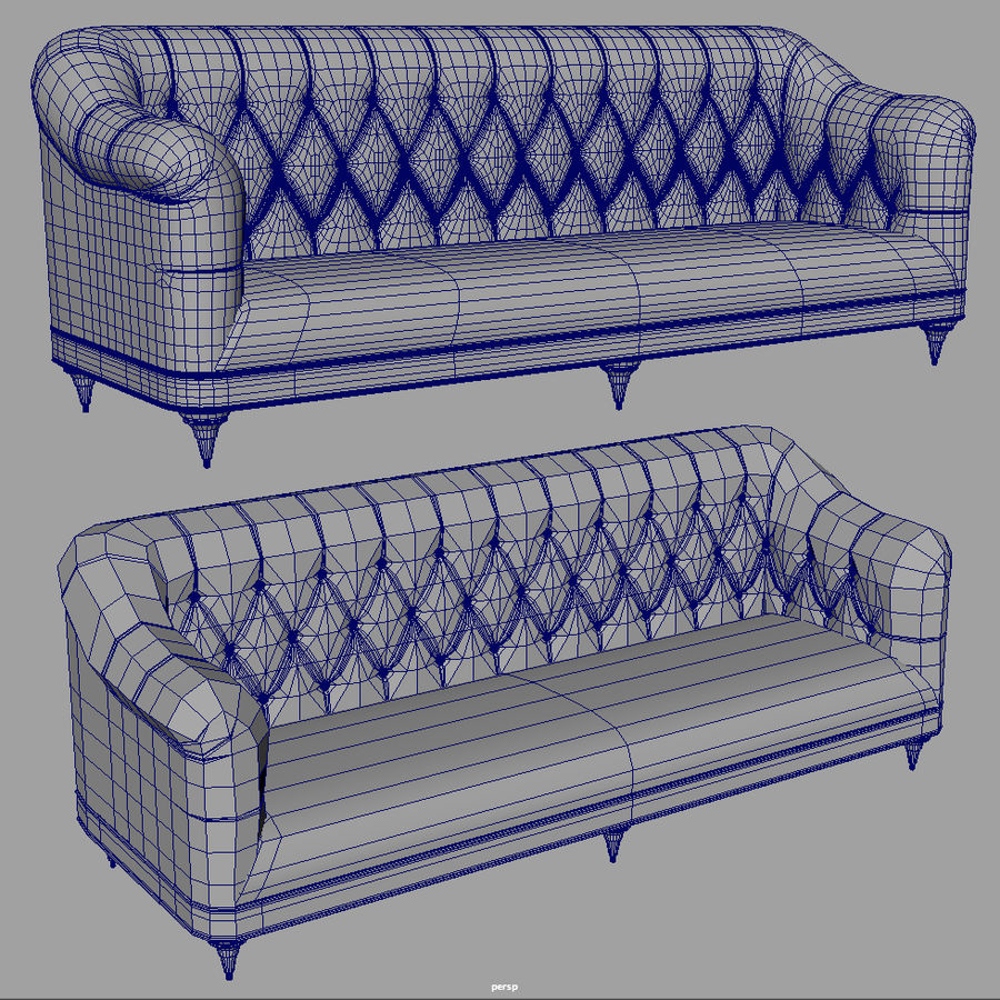 Couch Sofa royalty-free 3d model - Preview no. 9