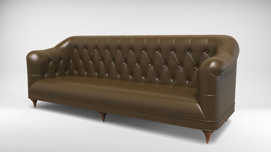 Couch Sofa royalty-free 3d model - Preview no. 1