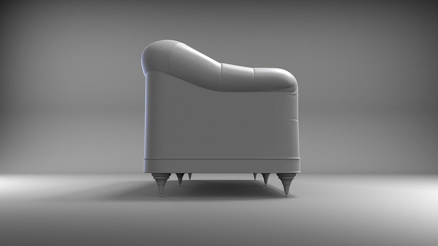 Couch Sofa royalty-free 3d model - Preview no. 7