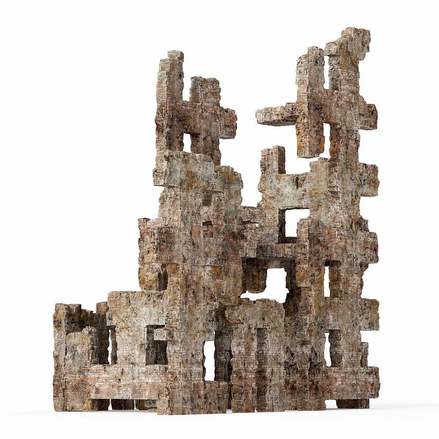 Edificio de ruinas royalty-free modelo 3d - Preview no. 1