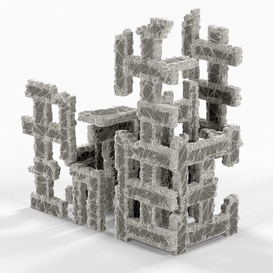 Edificio de ruinas royalty-free modelo 3d - Preview no. 14