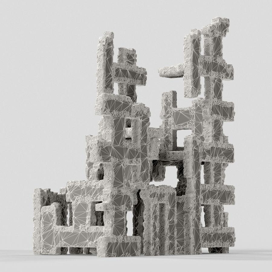 Edificio de ruinas royalty-free modelo 3d - Preview no. 9