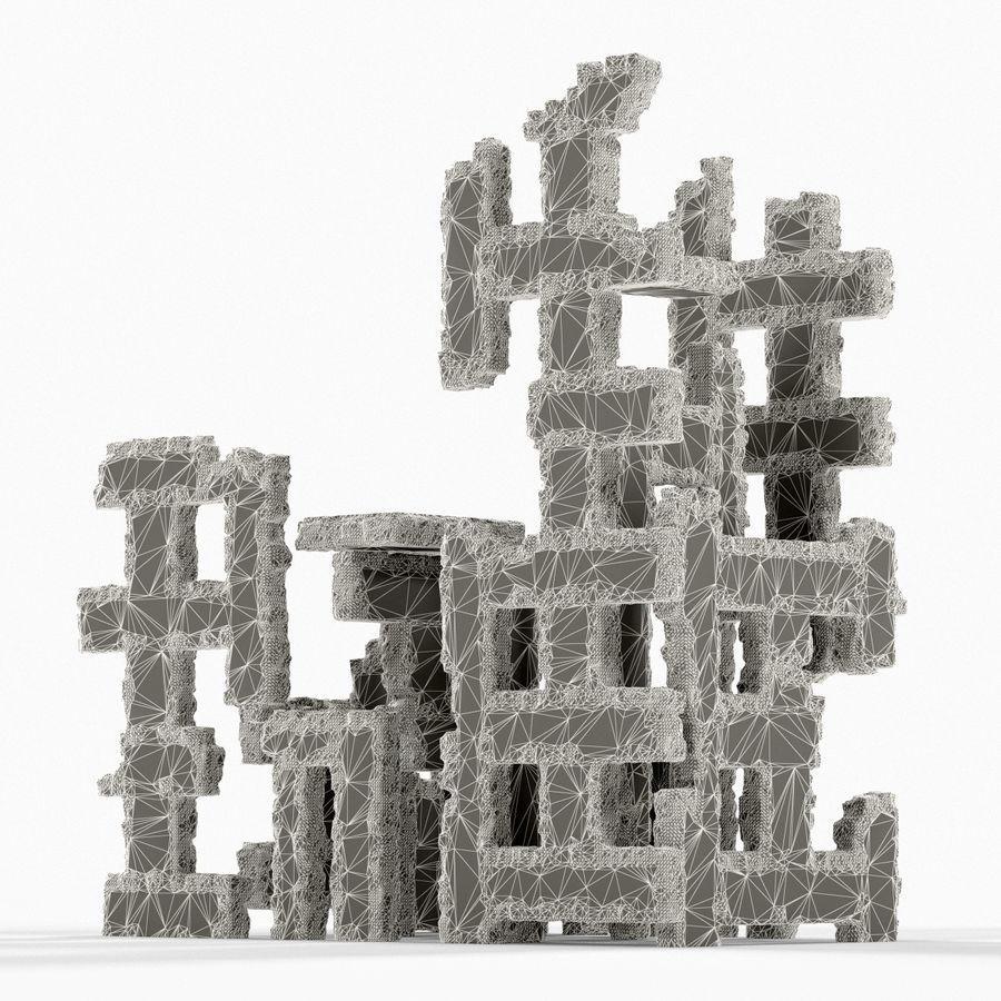 Edificio de ruinas royalty-free modelo 3d - Preview no. 10