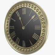 Золотые классические часы 3d model