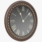 Деревянные Классические Часы 3d model