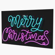 Neon Sign Merry Christmas 3D模型 3d model