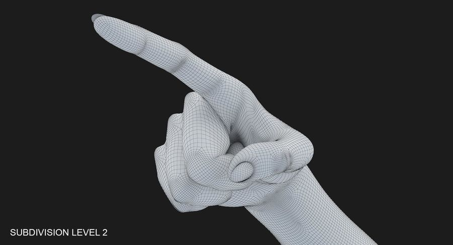 Female Arm A (Pose E) Pointing royalty-free 3d model - Preview no. 38